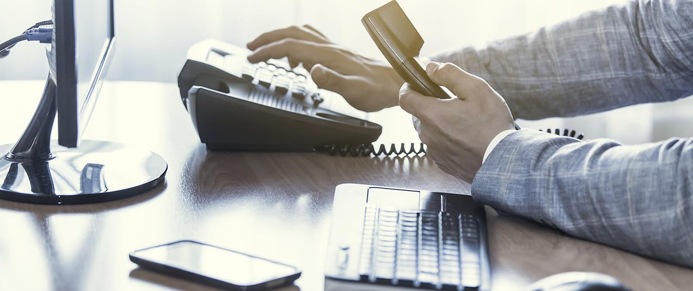 OnSitePhoneSystem Hero business dial desk